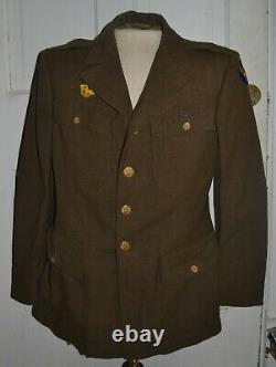 WW2 Army Air Corps ENLISTED MANS 4 Pocket JACKET LARGE SIZE 40R With Pants 33x33