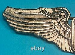 WW2, Army Air Corps Pilot Wing, Amcraft Hallmark, Pinack, Excellent Cond, #2