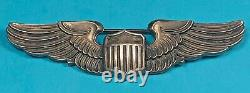 WW2, Army Air Corps Pilot Wing, Amico Hallmark, Pinack, Sterling, Exc. Cond, #1