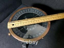WW2 Army Air Force Type D-12 Bendix Aviation Compass Working (A. F. U. S. WWII)