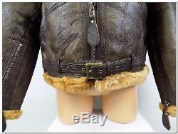 WW2 British Army Pilot RAF Royal Air Force Flight Jacket Leather Sheepskin TOP