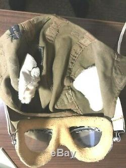 WW2 Type A9 US Army Air Force summer helmet/ AN6530 Googles/ Face mask combo