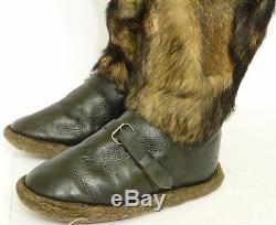 WW2 Type Sz 42 Pilot's winter fur boots USSR Soviet Army Air Force