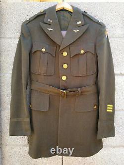 WW2 USAAF 8th Army Air Force Officer Uniform Jacket Pants Pilot