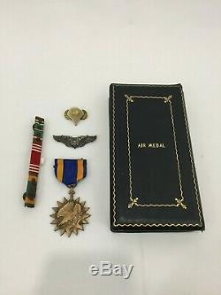 WW2 USAAF Air Medal, Gunner Wings, Ribbon Bar, Army Specialist Presentation Box