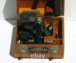 WW2 USAAF Army Air Force Boeing B-17 Bomber Navigator Type A-10A Sextant with Case
