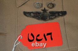 WW2 USAAF Army Air Force Lt. Col. Senior Pilot Pacific Theater Khaki Uniform VG+