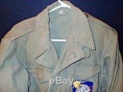 WW2 USAAF Army Air Forces Airways Communications System M-1943 Field Jacket 38R