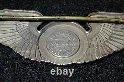 WW2 USAAF Army Air Forces Observer Badge Wings KG Luke Australia Sterling RARE