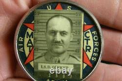 WW2 USAAF US Army Air Force ID Photo Badge I. S. D Officer MAT CTR Original WWII