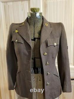 WW2 USAAF WAAC Women's Winter Service Uniform Jacket Sz 10S 1943 Army Air Corps