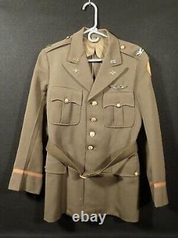 WW2 US AAC Army Air Corps Colonel Uniform Bullion Pinwheel Named Col. Mason 1935