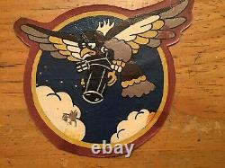 WW2 US ARMY AIR CORPS CBI 1ST PHOTO UNIT ORIGINAL LEATHER PATCH WithHISTORY