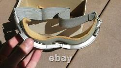 WW2 US ARMY AIR FORCE USAAF Chas Fischer AN-6530 Aviation FLIGHT FLYING Goggles