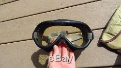 WW2 US Army AIR FORCE B-8 Flight Flying Goggles COMPLETE with Lenses No. 1065