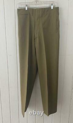 WW2 US Army Air Core Dress Jacket Sz 39R & Pants Vtg WWII 9th Airforce Pins