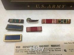 WW2 US Army Air Corp 8th Air Force Airman Insignia & Paper Grouping
