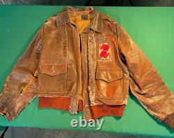 WW2 US Army Air Corp A2 Jacket IDd P38 Pilot with Documentation