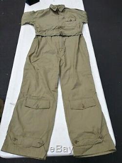WW2 US Army Air Corp AN-6550-AN-S-31 Flight Suit Size 44 Medium Rare