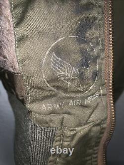WW2 US Army Air Corp B-15A Flight Jacket Size 36 MFG Berk-Ray Corporation