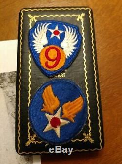 WW2 US Army Air Corp Medal Grouping 9th AF NAMED WOUNDED European Campaign SSGT