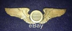 WW2 US Army Air Corp Observer Wing Hall Marked AE. CO. UTICA N. Y, STERLING