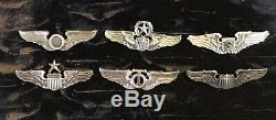 WW2 US Army Air Corp Observer Wing Hall Marked A. E. CO. UTICA, N. Y, Sterling