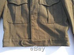 WW2 US Army Air Corp Sergeant Engineer Ike Jacket Size 36R 1942