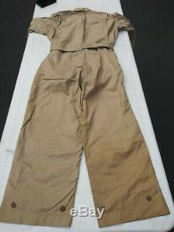 WW2 US Army Air Corp Summer Flight Suit Size 40M Khaki -MFG Reed Products