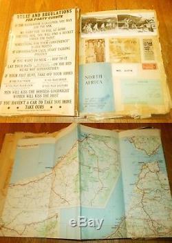 WW2 US Army Air Corp. Veteran Grouping TANKARD & SCRAP BOOK AFRIKA 1942 NICE
