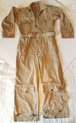 WW2 US Army Air Corps Summer Flying Suit Original Flight sz 38 medium Crew