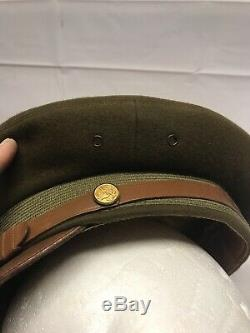 WW2 US Army Air Force Berkshire Deluxe Pilot Officer Crusher Cap with Badge Mint