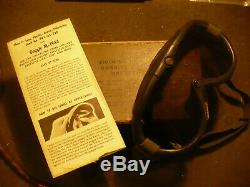 WW2 US Army Air Force Model A-11 Flying Helmet, Radiohead set and B-8 Goggles