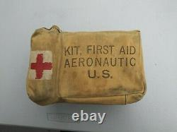 WW2 US Army Air Force/Navy/MC Aeronautic First Aid Kit Loaded Red Cross
