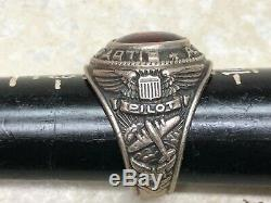 WW2 US Army Air Force Pilot Officer Sterling Ring Size 9