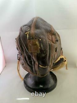 WW2 US Army Air Force Type B-6 Flight Helmet Sheepskin Shearling M has Holes