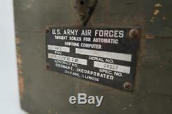 WW2 US Army Air Force corp USAF tangent military aircraft bombing computer scale