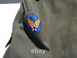 WW2 US Army Air Forces Pilot Officer's Tunic Approx. Size 38-40 Named