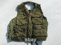 WW2 US Army Air Forces Type C-1 Survival Vest MFG Sears and Rubock