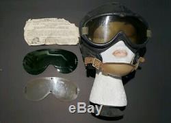 WW2 US Army Military AIR FORCE B-8 Flight Flying Goggles Polaroid With Helmet