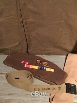 WW2 US Army Wool Uniform with Air Corps patch Overseas Cap And Accessories