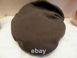 WW2 US Officer Visor Cap Hat Army Corp Air Force Crusher Pilot Size 7 Bancroft