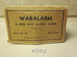 WW2 U. S. ARMY AIR CORPS WARALARM A ONE DAY ALARM CLOCK V/G CONDITION with BOX