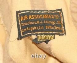 WW2 U. S. Army Air Corp Canvas Flight Helmet by Air Associates, Inc. Size (M)