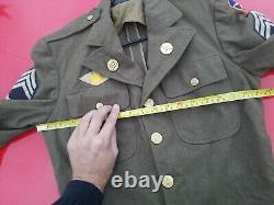 WW2 WWII 7th US Air Force Army Pacific Patch Wool Dress Uniform