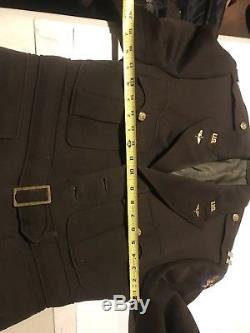 WW2 WWII US Army Air Force Captains Officers Dress Jacket Coat USSAF 1942 Tunic