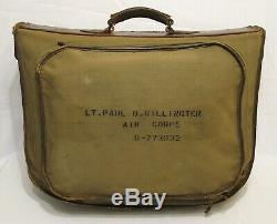 WW2 WWII U. S. Army Air Forces B-4 Officer's Suitcase Excellent Condition USAAF