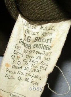 WW2 Women's Army Air Corp Officer's Uniform-Jacket/Shirt/Tie/Skirt/Cap-Named