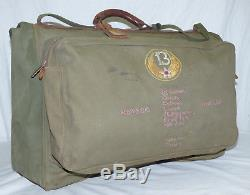 WWII 13th Army Air Force Corps Canvas Suitcase Service-Pak Embroidered ID'd