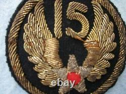 WWII 15th Army Air Forces Patch Bullion Italy Theater Made Ploesti Raid AAF WWII